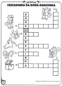 Saber e Saberes: Cruzadinhas com banco de palavras 1, Sewing, Nice, Literacy Activities, Roaches, Activities, History, Classroom, Dressmaking