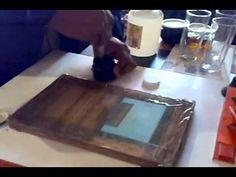 Curso de serigrafia casera impresión de vaso de cristal