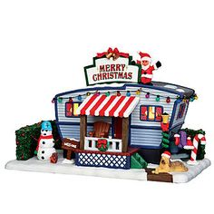 Coventry Cove by Lemax Christmas Village Building, Christmas Lane Trailer