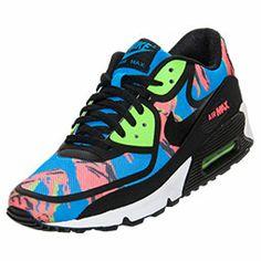 Men\u0026#39;s Nike Air Max 90 Premium Tape Running Shoes | | Blue Hero/Black/Flash Lime/Red