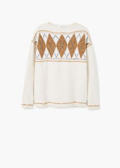 Rhombus design sweater - Cardigans and sweaters for Woman | MANGO Denmark