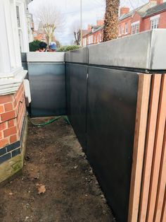 Victorian Terrace garden front enclosure for bins and bike storage - beautiful, secure, bespoke, disguised as garden planter Craftsman House Plans, Country House Plans, Modern House Plans, Small House Plans, Bike Storage Front Garden, Bicycle Storage, Terrace Garden, Garden Planters, Garage Apartment Floor Plans