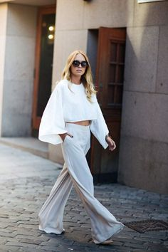 Stockholm Street-Style All white