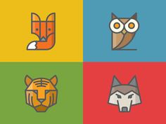 Zendesk Animal Iconshttp://dribbble.com/shots/1461832-Zendesk-Animal-Icons