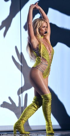 It has been 10 years since the 34-year-old pop diva performed Gimme More at the MTV VMAs