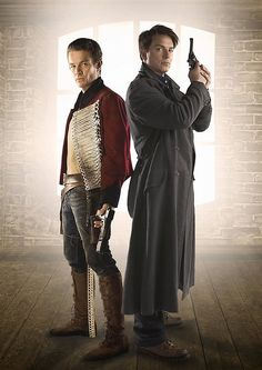 Torchwood. James Marsters (Captain John) and John Barrowman (Captain Jack). Too much yum for one TV show to contain.
