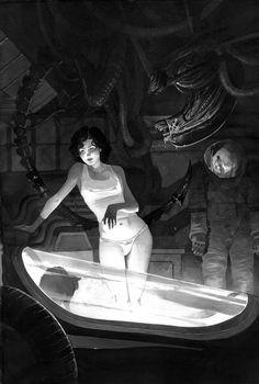 Ripley in her underwear... Believe it or not!