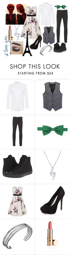 """Hope and Eli"" by goldenlaurel ❤ liked on Polyvore featuring Topman, Levi's, Forzieri, Converse, BERRICLE, Little Mistress, New Look and Karen Kane"