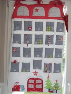 ★Adventskalender+★+Weihnachtshaus+!+von+In-deko+auf+DaWanda.com