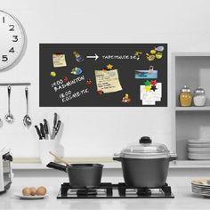 SONDERPREIS-selbstklebende magnetische Tafelfolie Wandfolie Wandtafel Kreidetafel -schwarz- 100x50 inkl. 2 Stk. Kreide: Amazon.de: Küche & H...