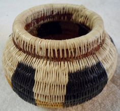 Wounaan Embera Woven Darien Rainforest Bowl Basket-Panama 15112412L