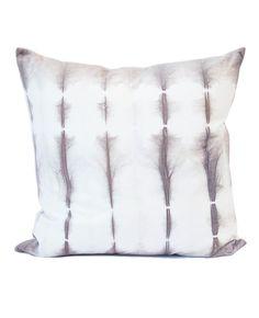 Shibori Pewter Cotton Velvet Cushion