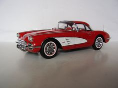 The 1959 Chevrolet Corvette was nearly identical to the 1958 in exterior appearance, with the exception of hood louvers and trunk spears, both missing from this year's model. In addition, Regal Turquoise was not available as an exterior color, butwas available as a convertible soft top and interior vinyl color. For the first year, black was an optional color for the interior.