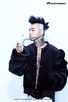 """Taeyang from BIGBANG. I found it weird that some of the members were pictured with oxygen masks. Well, at least the new song """"Blue"""" is pretty decent."""
