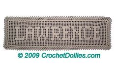 Gallery of Name Crochet Doilies - See samples of my Crochet Work!