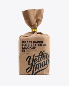 Small Kraft Paper Bag For Bread Mockup. Preview