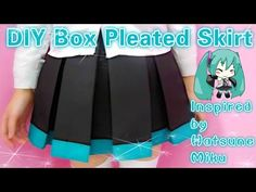DIY Hatsune Miku Inspired Box Pleated Skirt for Summer(easy) - YouTube
