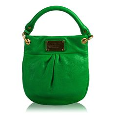 Marc by Marc Jacobs Classic Q Mini Hillier Hobo: Love the mini version for a pop of color. #Handbags #Marc_Jacobs