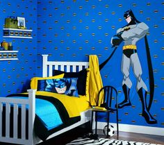 Would Only Use One Or Two Of These So Not To Overpower Room Room Inspiration 16 Superhero Themed Rooms For Boys