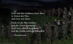 Soldat. Soll Ohne Leisesten Dank Alles Tun.
