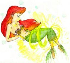 ariel the little mermaid transformation legs tail