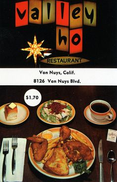 The Googie-style Valley-Ho Restaurant at 8126 Van Nuys Boulevard (ca.1960)