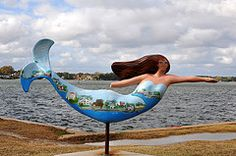 Norfolk, Virginia.  There are mermaids all over the city.