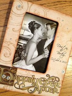 2d3308d820d0 Items similar to Wedding Picture Frame Vintage Distressed Renaissance  Happily Every After 4x6 on Etsy