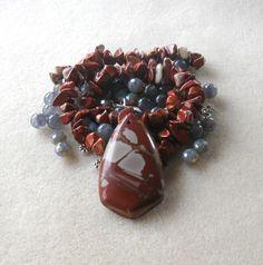 Australian Picture Jasper, Jade Beads, Glass Beads, DIY Jewelry Kit, Jewelry Making Beads, Bead Kit, Gemstone Bead, Necklace Kit by CatsBeadKitsandMore on Etsy