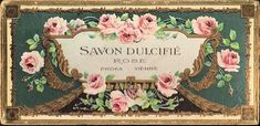 Like so many of you, I love to see what The Graphics Fairy has on her site to inspire me to create. I saw this vintage French Soap Label an. Vintage Diy, Images Vintage, Vintage Tags, Vintage Labels, Vintage Ephemera, Vintage Pictures, Vintage Paper, Vintage Postcards, Vintage Prints