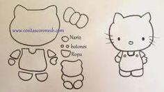 Resultado de imagen para contorno de hello kitty para imprimir