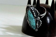 Vintage Native American Sterling Ring with by CharmedKitty on Etsy, $34.99