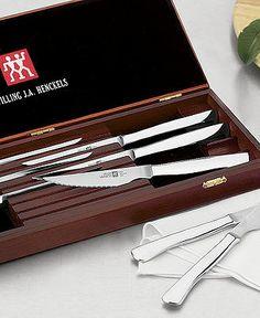 Zwilling J.A. Henckels TWIN® Gourmet 8-Piece Stainless Steak Knife Set - Cutlery & Knives - Kitchen - Macy's
