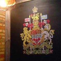 Canadian Shield Restaurant Chalkboard Chalk Art by Elise Goodhoofd