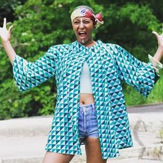Some very exciting news about Geometric Akiko coming very soon! It's been chosen to feature in a very exciting project and I honestly cannot wait to share (maybe that explains that face! Exciting News, Fashion Colours, Head Wraps, Blues, Kimono Top, Textiles, Culture, Instagram Posts, Connect