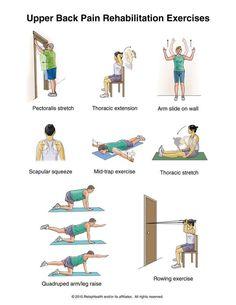 Upper back pain exercise program