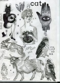 FLASH SHEET / TATTOO DESIGNS / by Izabela Dawid Wolf, via Behance