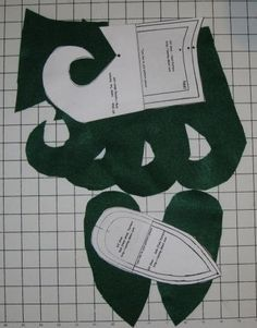 Elf Shoe Pattern From Felt   Free Pattern and Directions to Sew Elf Costume Shoes - Cutting and ...