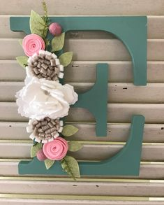 Letters available in white, teal, sea glass, spring green, and baby pink