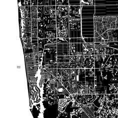 Naples, Florida, Vector Map by #Hebstreit  #avenue #background #black #building #car #cartography #cityscape #cleanoutline
