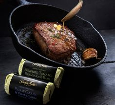 Add a slice of Simply Better Hand Churned Roast Garlic & Peppercorn Irish Butter to your Simply Better 14 Day Matured Irish Angus steak to give it that finishing touch. Angus Steak, Romantic Meals, Roasted Garlic, Main Meals, Wine Recipes, Irish, Butter, Valentines, Touch