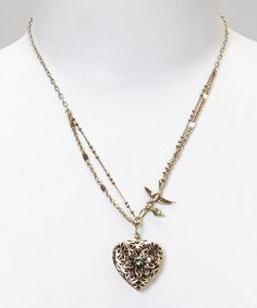 Another great find on #zulily! Brass Heart Pendant Necklace #zulilyfinds