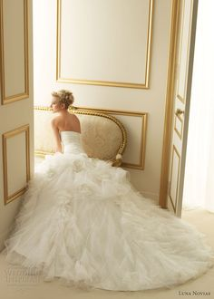 luna novias 2013 tirana wedding dress romantic gathered skirt
