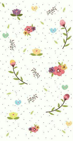 Pin de jy em 텍_flower милые обои, обои для телефона e обои для iphone. Floral Wallpaper Iphone, Trendy Wallpaper, Flower Wallpaper, Mobile Wallpaper, Pattern Wallpaper, Cute Wallpapers, Vintage Wallpapers, Iphone Wallpapers, Screen Wallpaper