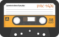 Add a retro touch to your invitations with this Cassette Tape Song Request / RSVP Card - and your dancefloor is sure to be full all night long!…