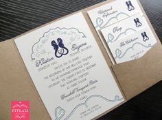 Seahorses in Navy Blue & Tiffany blue Destination by citlali, $3.00