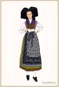 French national costumes. This one: Woman from Alsace