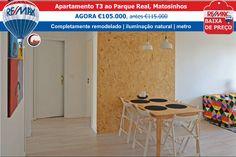 BAIXA DE PREÇO - Apartamento T3 ao Parque Real, Matosinhos AGORA €105.000, antes €115.000 www.remax.pt/123551032-142  Comigo Está Vendido! Ana Rio : 963 717 081 : ario@remax.pt