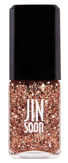 The perfect rose gold nail polish. Wear it alone over clear nail polish or over a colored polish for some extra sparkle.