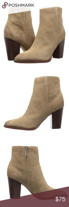 Sam Edelman Blake Bootie Oatmeal Great Sam Edelman booties. Taller than I wanted. Wore once and blue jeans rubbed off a little on the inside, but not noticeable. Cute to dress up or down. Sam Edelman Shoes Ankle Boots & Booties